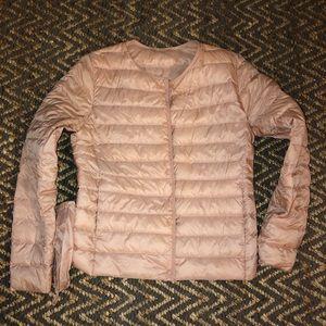 Uniqlo pink ultra light jacket
